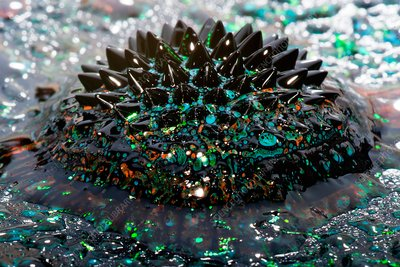 Ferrofluid mixed with paint