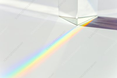 Prism refracting visible light