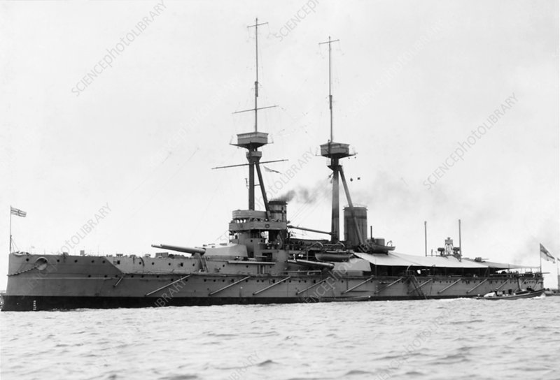 HMS Vanguard at sea