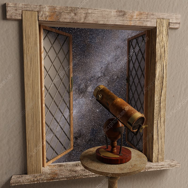 Isaac Newton's reflecting telescope