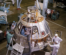 Apollo 1 command module preparation