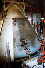 Apollo 1 command module after fire