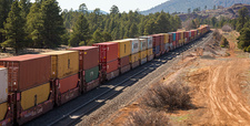 Freight train, Arizona, USA