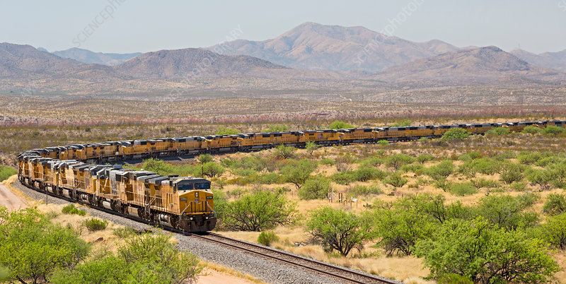 Disused trains, Arizona, USA