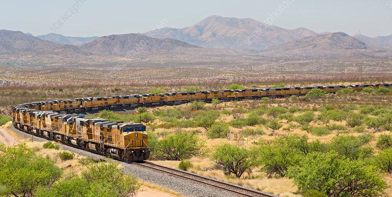 Disused trains, Arizona, USA