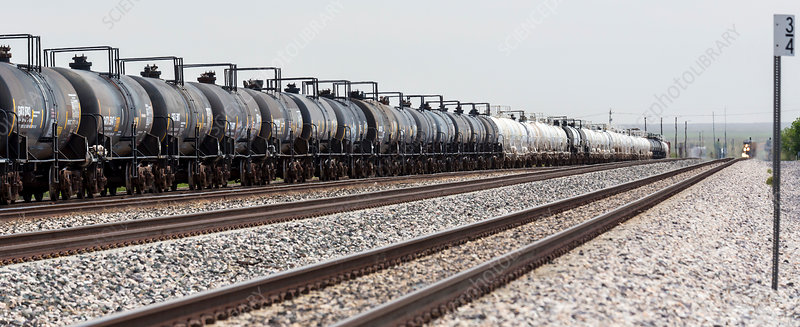 Freight train, New Mexico, USA