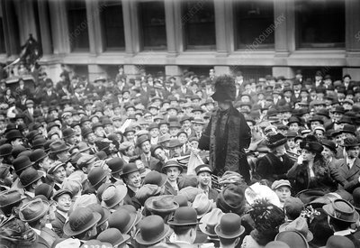 Emmeline Pankhurst in New York City, USA, 1911