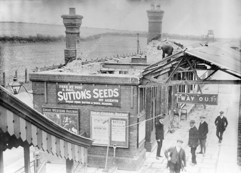 Damage caused by suffragettes, London, UK