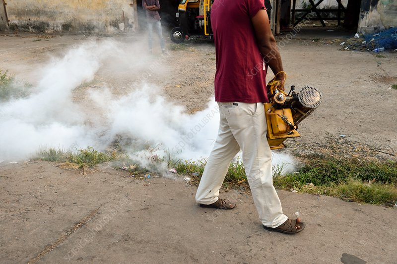 Mosquito repellent fogging operation