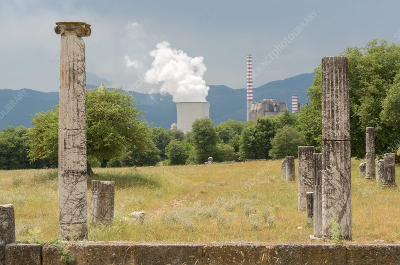 Ancient Megalopolis and Coal Powerplant.