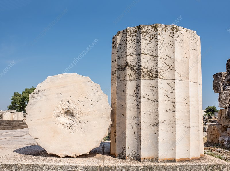 Temple column and section, Eleusis