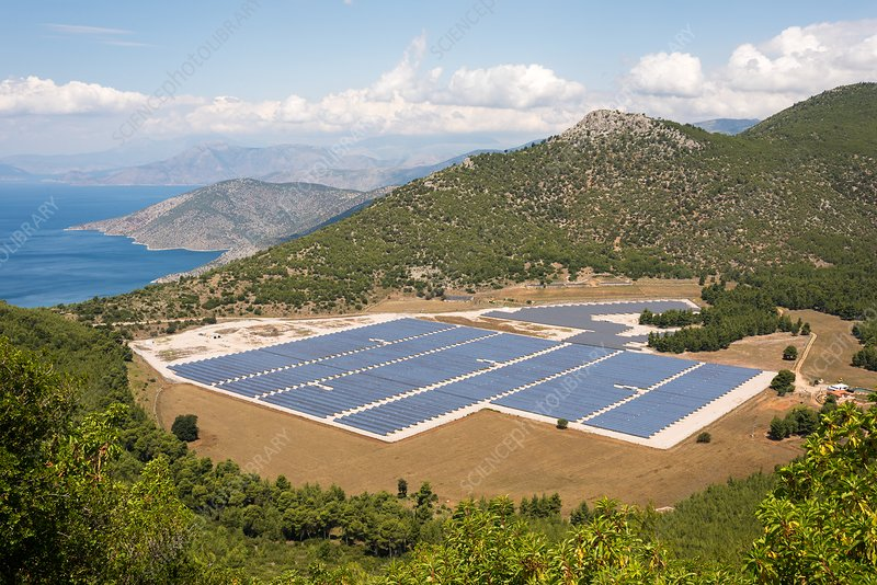 Solar Array in Greece