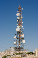 Microwave transmission mast, Greece