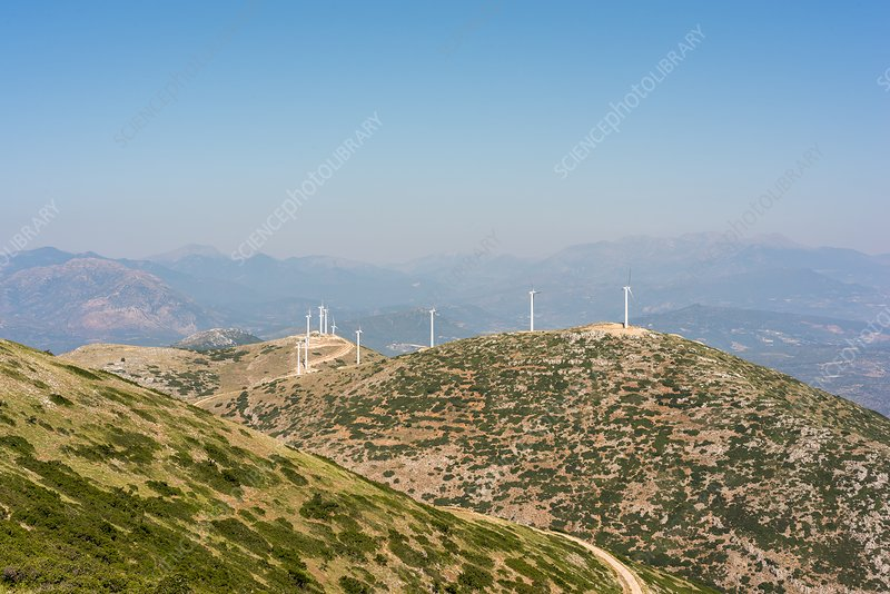 Windfarm, Peloponnese, Greece