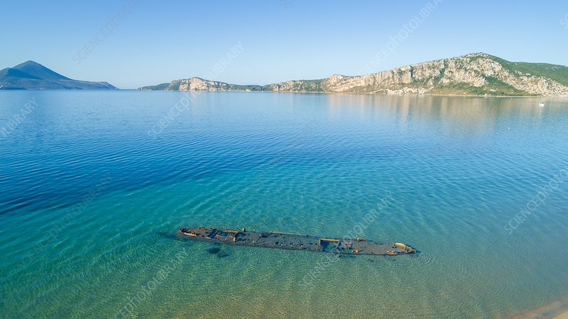 Shipwreck, Peloponnese, Greece