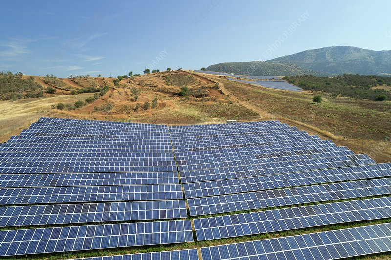Photovoltaic solar array, Greece