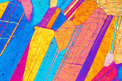 LM of a thin section of gabbro rock