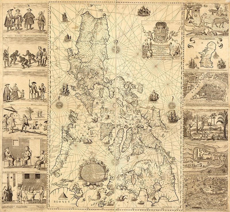 Map of the Philippines, 18th century