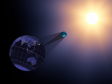 August 2017 total solar eclipse, illustration
