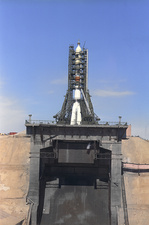 Soyuz 11 spaceship on launch pad