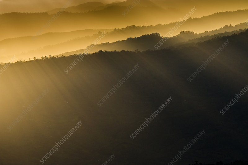 Sunrise in the eastern Andes, Colombia