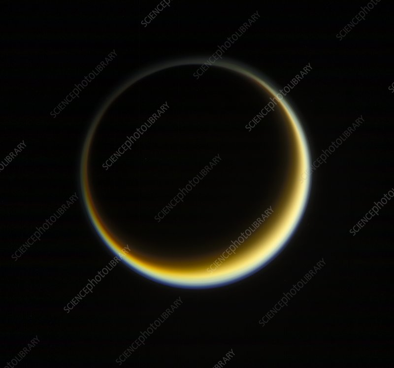 Saturn's moon Titan, Cassini image