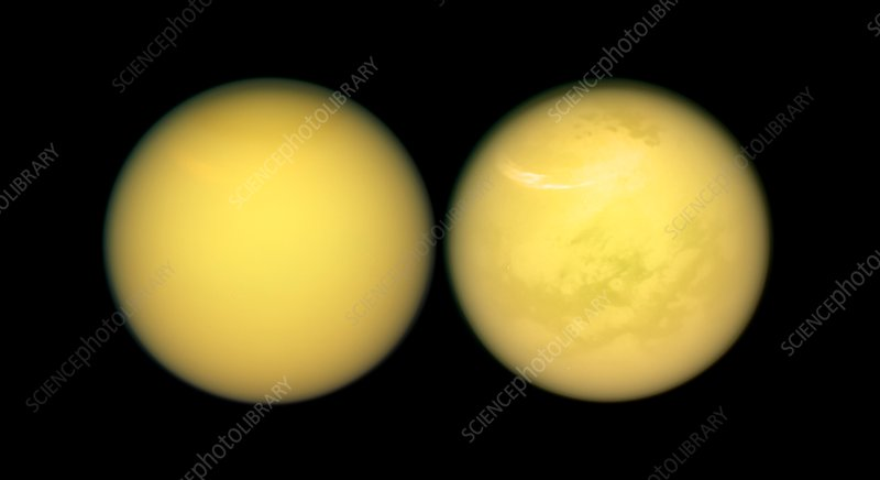 Saturn's moon Titan, Cassini images