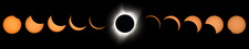 2017 total solar eclipse, composite image