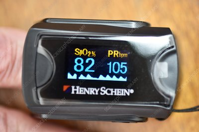 Pulse oximeter readings in lung disease