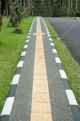 Tactile footpath for blind people, Bali