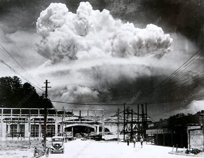 Atomic blast over Nagasaki, 1945