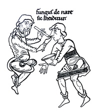 Mediaeval nasal surgery, illustration