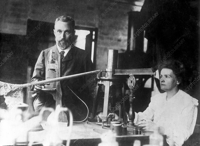 Marie and Pierre Curie, physicists