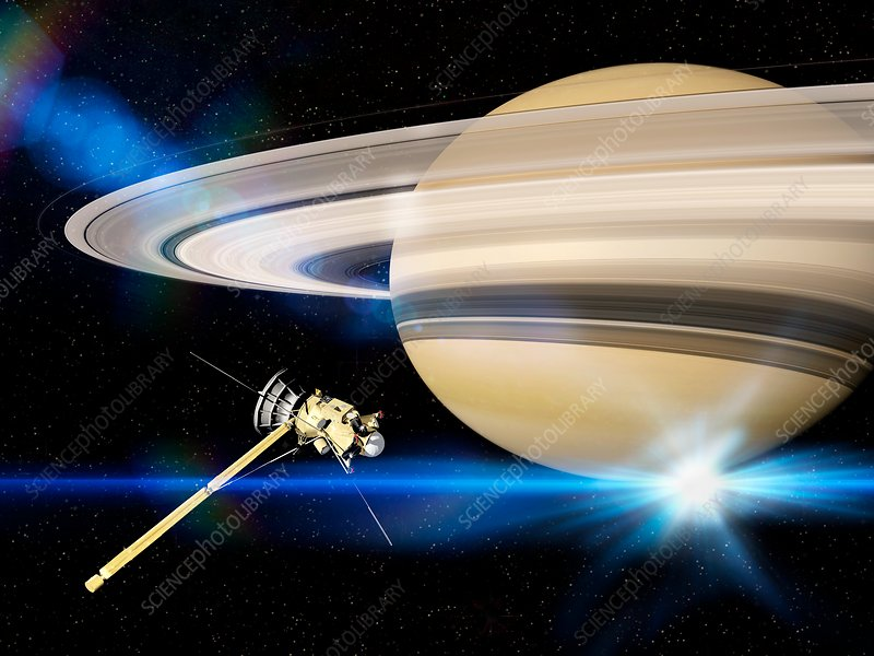 Cassini's Grand Finale at Saturn, illustration