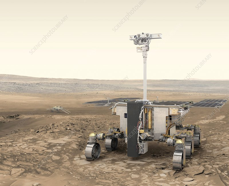 ExoMars rover, illustration