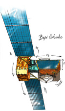 BepiColombo spacecraft, illustration