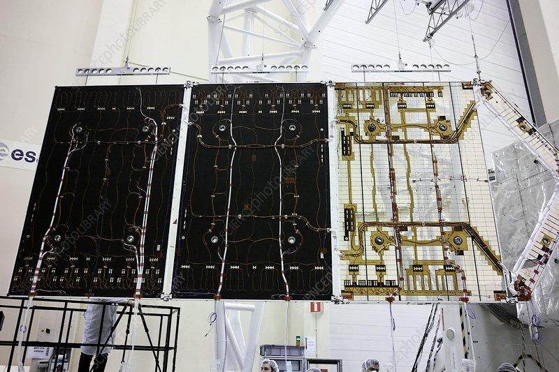 BepiColombo spacecraft solar panels test