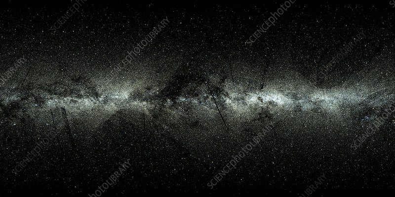 Milky Way map from Gaia satellite