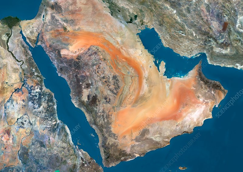 Arabian Peninsula, satellite image