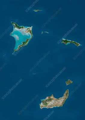 Bahamas Southern Islands, satellite image