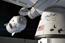 SpaceX's Crew Dragon docking with ISS, illustration