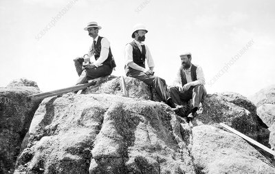 Holmes, Walcott and Gannett, US geologists, 1897