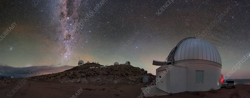 Milky Way over Cerro Tololo observatory, Chile