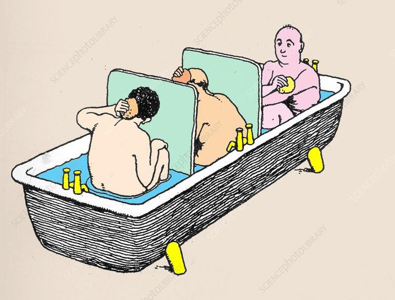 Bath For Three by W. Heath Robinson