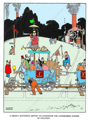 The First Bathing Compartment by W. Heath Robinson