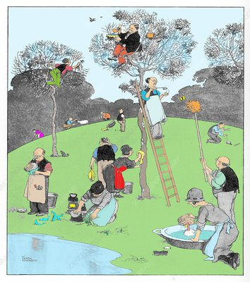 Highgate Woods by W. Heath Robinson