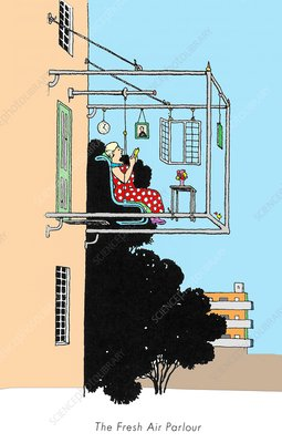 Fresh air parlour by W. Heath Robinson
