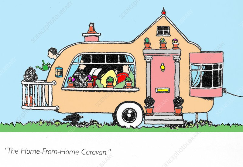 The home from home caravan by W. Heath Robinson