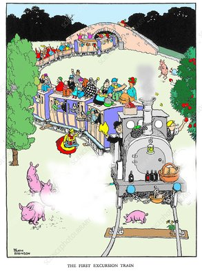 The first excursion train by W. Heath Robinson