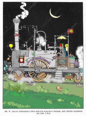 Cartoon by W. Heath Robinson